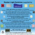 Varilight 2 Gang 1 or 2 Way 10 Amp Rocker Switch Standard Plate in Pewter - XR2B